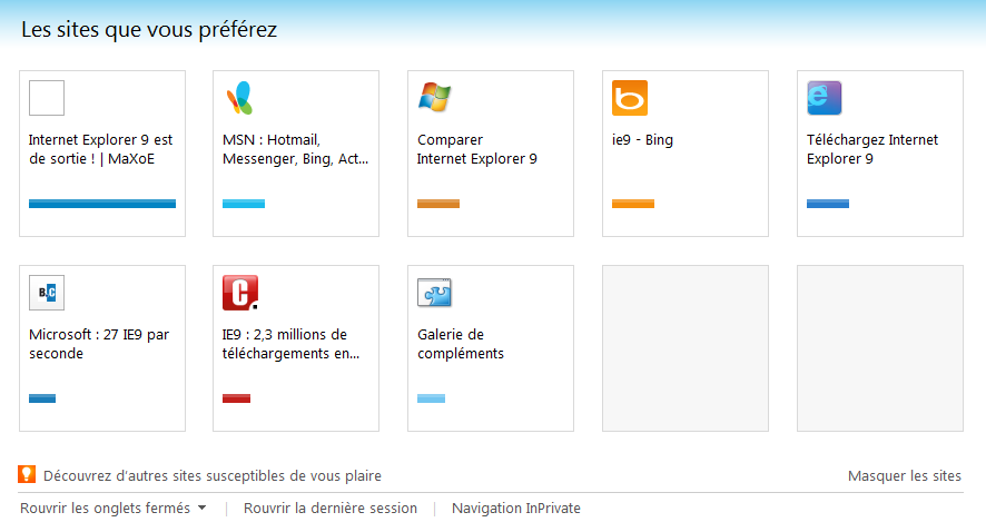 Le Clic de MaXoE: Internet Explorer 9