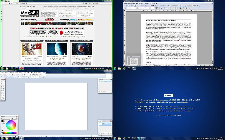 Le Clic de MaXoE: Bureaux Multiples sur Windows